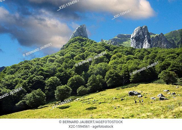 The Chaudefour valley, Puy de Dome, Auvergne, France, Europe