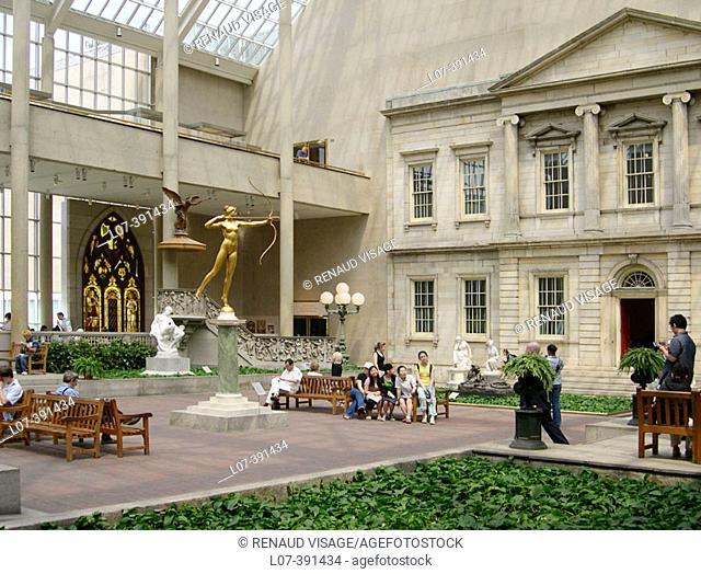 Charles Engelhard Court in the American Wing. Metropolitan Museum of Art. New York City. USA
