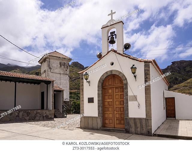 Chapel of San Pedro in Afur, Anaga, Tenerife Island, Canary Islands, Spain