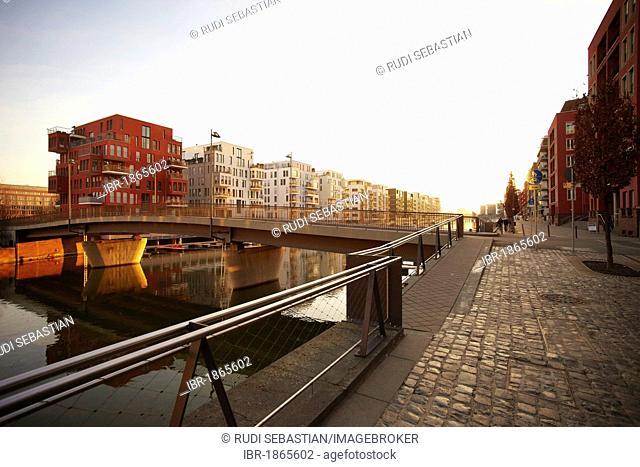 Westhafen port, Frankfurt, Hesse, Germany, Europe