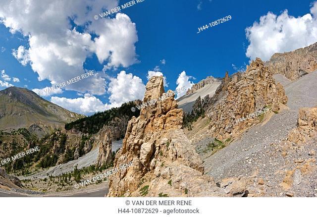 Col d'Izoard, Casse Déserte, Briançonnais, Hautes-Alpes, France, Landscape, Summer, Mountains, Hills, France, Horizontal