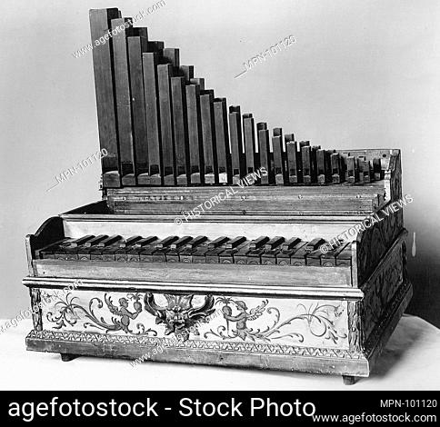 Portative Organ. Maker: Probably by Leopoldo Franciolini (Italian, Florence 1844-1920 Florence); Date: late 19th century; Geography: Florence