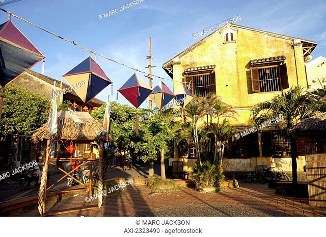 French Colonial era houses in historic town of Hoi An; Vietnam