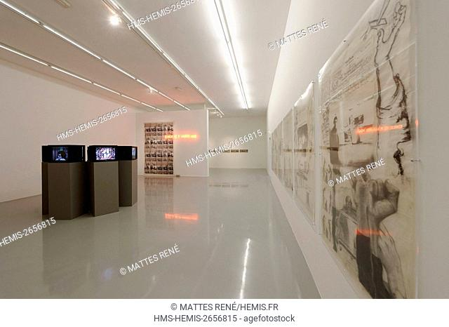 France, Moselle, Metz, Saint Livier mansion house which shelters the FRAC (Funds regional of contemporary art)