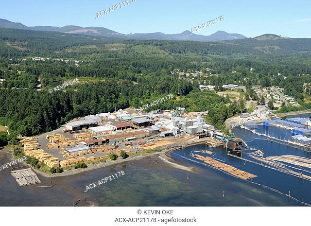 Logging operations, Ladysmith Harbour. Ladysmith, Vancouver Island, British Columbia, Canada