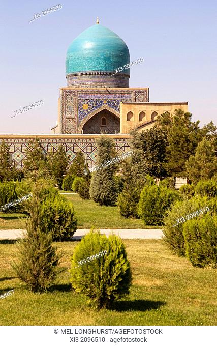 Tilla Kari Madrasah, also known as Tillya Kari Madrasah, Registan Square, Samarkand, Uzbekistan
