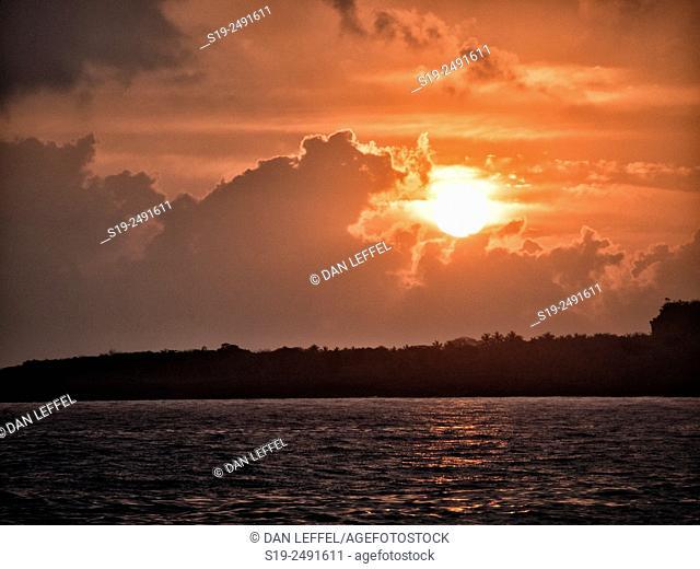 Sea shore, Sunrise,  Baracoa. Cuba