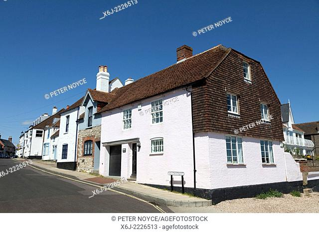 Old quaint, character, terrace houses in South Street Emsworth