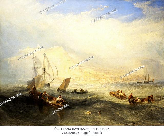 Line fishing, Off Hastings by Joseph Mallord William Turner (1755-1851)