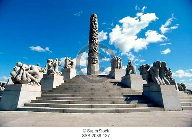 Monolith Vigeland Park Frogner Park Oslo, Norway