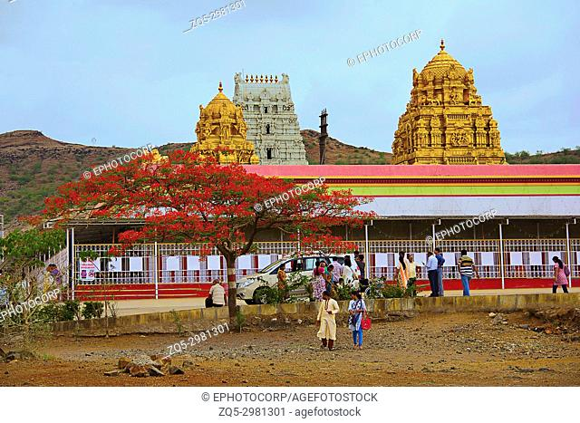 View of Prati Balaji Temple, Narayanpur, Pune