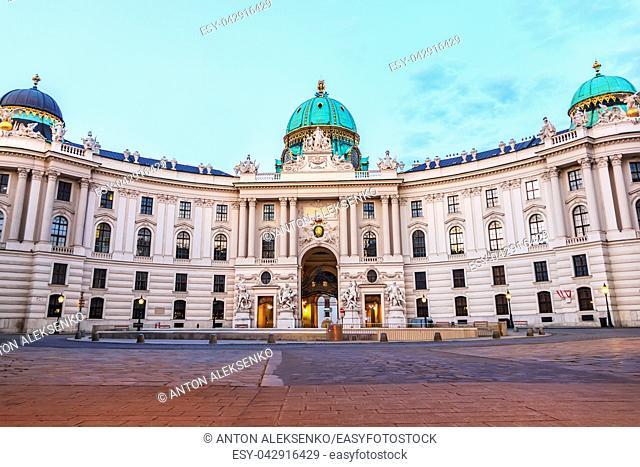 Hofburg in Vienna, Austria, view from Michaelplatz, no people