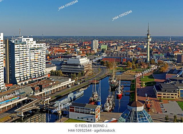 Europe, Germany, Bremen, Bremerhaven, am Strom, Weser, old harbour, port, Mediterraneo, Columbus centre, German, ship journey museum, Alfred Wegener institute