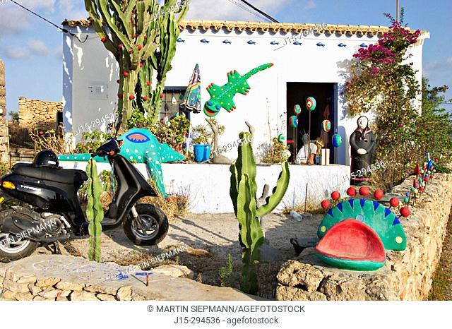 Artists' house near Sant Francesc. Formentera, Balearic Islands. Spain