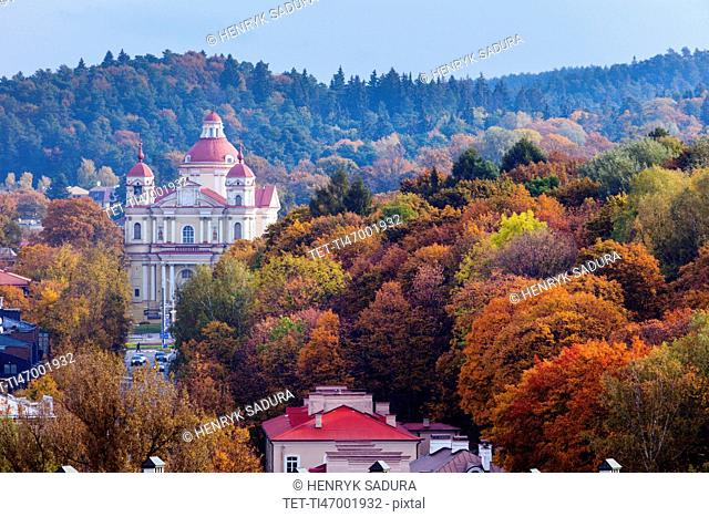 Lithuania, Vilnius, Architecture of old town
