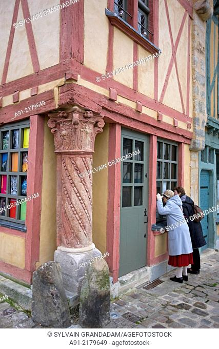 France, Sarthe, city of Le Mans, medieval homes in the old town