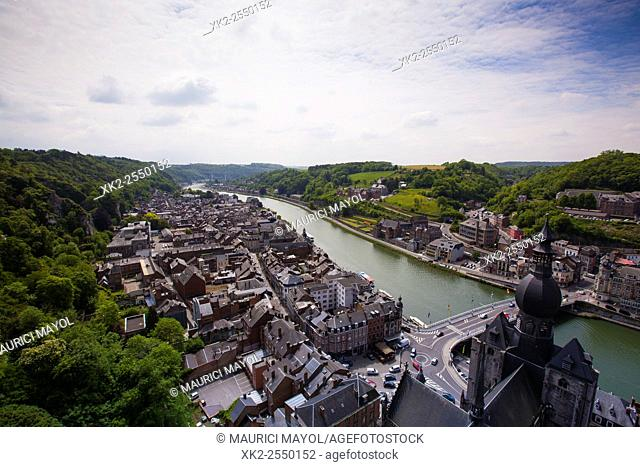 Aerial view of Dinant, Ardennes, Belgium