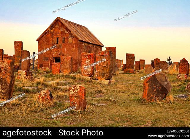 Noratus cemetery at Sevan lake, Armenia, Asia