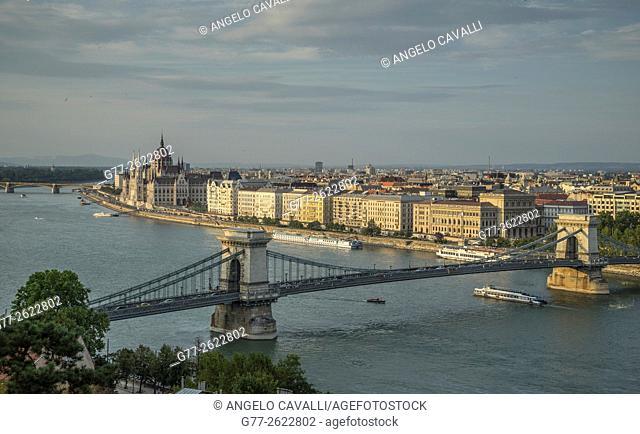 Hungary. Budapest. Chain Bridge