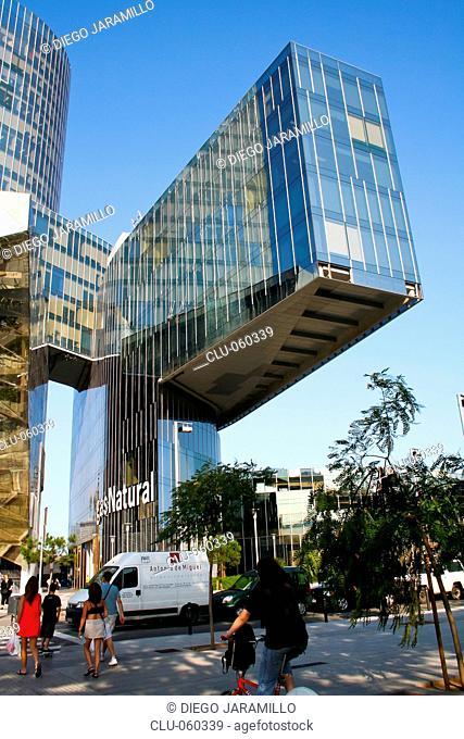 Natural Gas Headquarters in Barcelona, La Barceloneta, Barcelona, Catalonia, Spain, Western Europe
