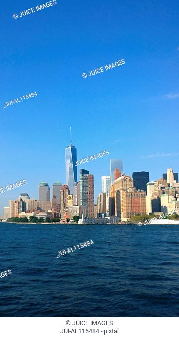 Skyline of Manhattan, New York, USA