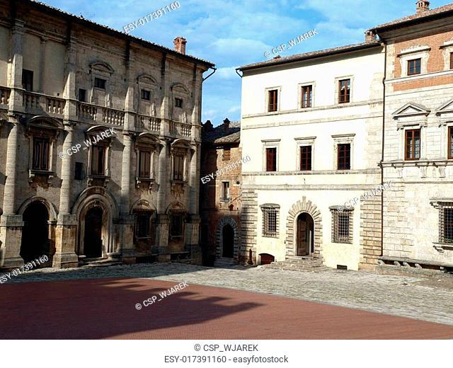 Piazza Grande and Palazzo dei Nobili - Montepulciano, Tuscany, Italy