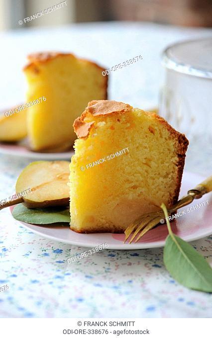 Pears rhum cake