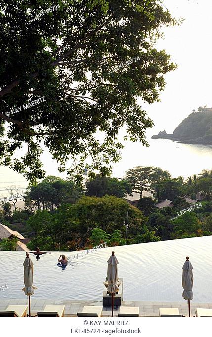Pool with view to the sea, Hotel Pimalai, Ao Kantiang, Ko Lanta, Krabi, Thailand