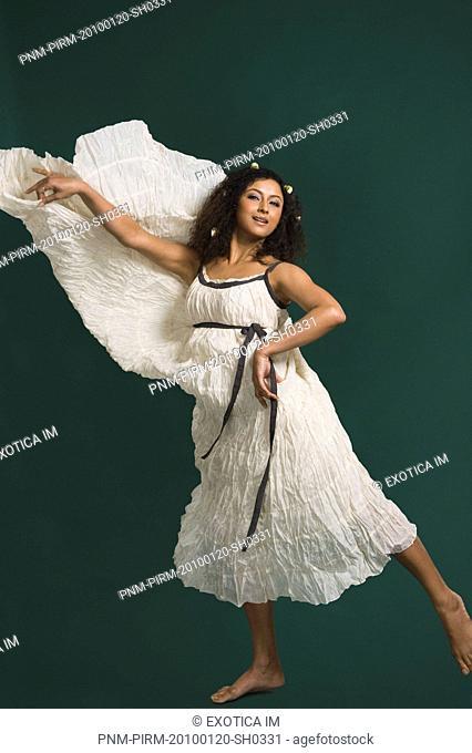 Fashion model dancing