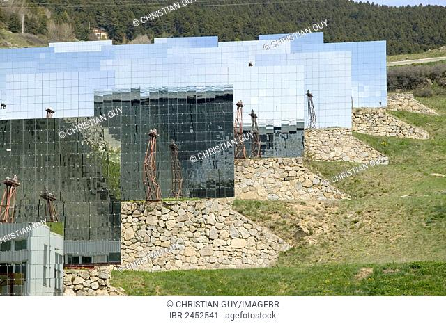 Font Romeu, Odeillo, world's largest solar furnace, CNRS, Centre national de la recherche scientifique, Catalunya del Nord (Northern Catalonia), France, Europe