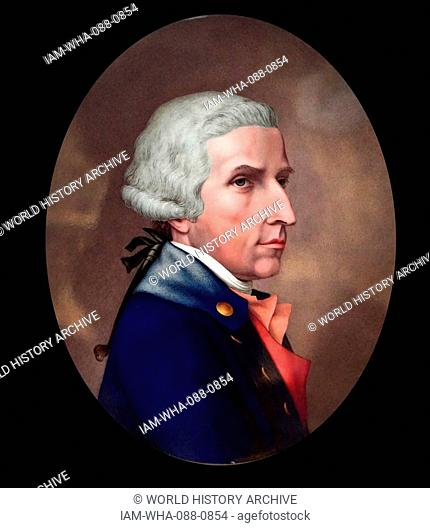 Portrait of William Hamilton (1730-1803) a Scottish diplomat, antiquarian, archaeologist and volcanologist. Dated 18th Century