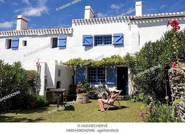France, Vendee, Ile de Noirmoutier, Le Petit Vieil, former fisherman's house