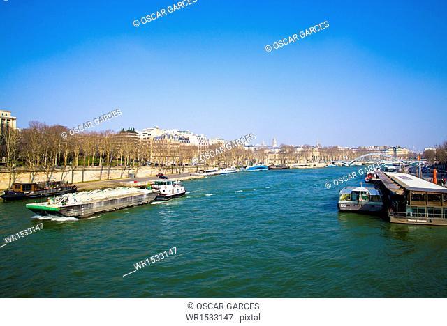 Seine River, Paris, France, Western Europe
