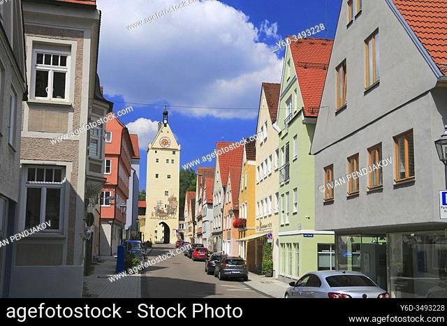 The Ulmer Gate in Memmingen, Bavaria, Germany