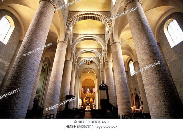 France, Saône-et-Loire (71), Tournus abbey, two towers of the ancient precinct of Saint-Philibert church
