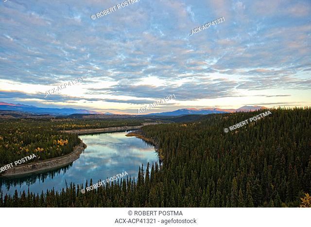 Sunset over Yukon River, Whitehorse, Yukon, Canada