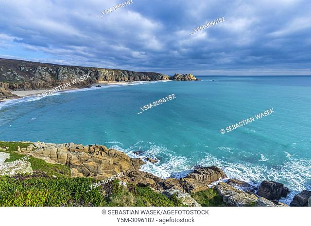 The beach at Porthcurno, Cornwall, England, United Kingdom, Europe
