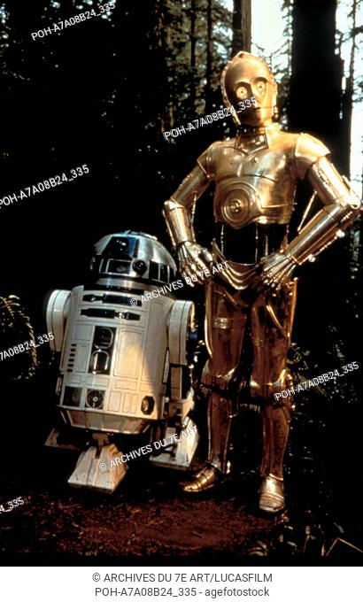 Star Wars: Episode VI, Return of the Jedi  Year : 1983 USA  Director: Richard Marquand Anthony Daniels, Kenny Baker. It is forbidden to reproduce the photograph...