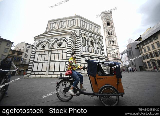 In Tuscany region is allowed to go back for walking or cycling Florence, ITALY-01-05-2020