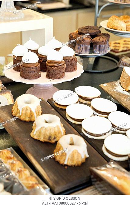 Desserts in bakery