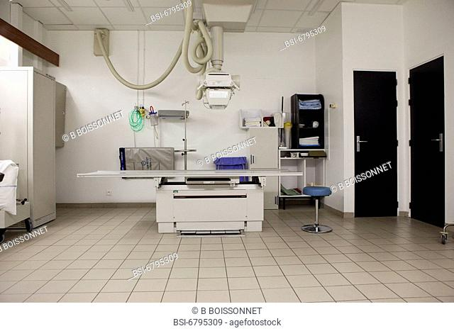 Photo essay at the hospital of Meaux, France. Department of medical imagery