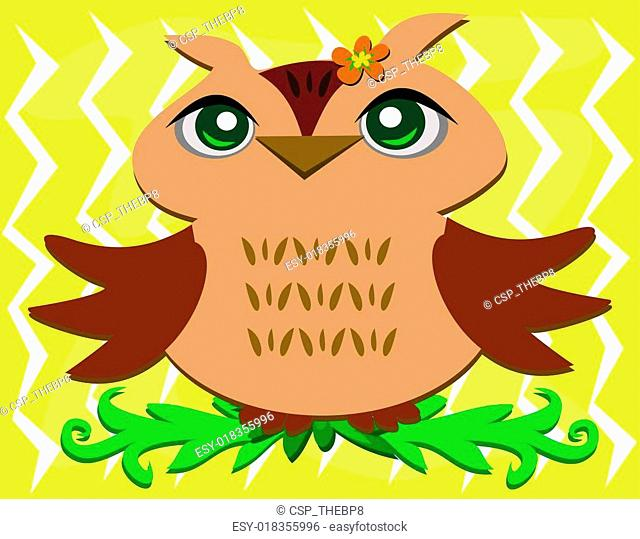 Owl with Wings Spread