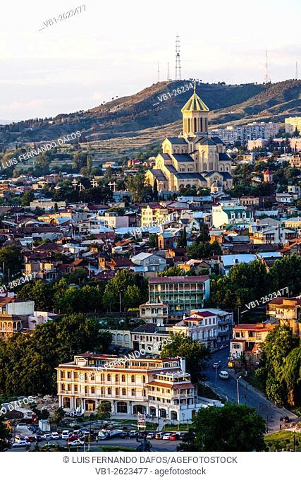 Tsminda Sameba new cathedral, Tbilisi, Georgia
