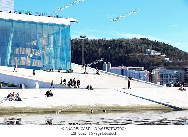 Oslo Opera House i the home of The Norwegian National Opera and Ballet, and the national opera theatre in Norway