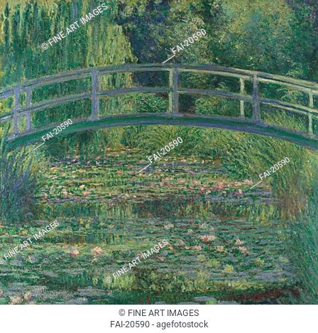 The Water-Lily Pond. Monet, Claude (1840-1926). Oil on canvas. Impressionism. 1899. France. National Gallery, London. 88,3x93,1. Landscape. Painting
