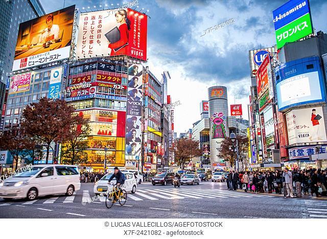 Shibuya Scramble Kousaten crossing in Hachiko square, Tokyo, Japan