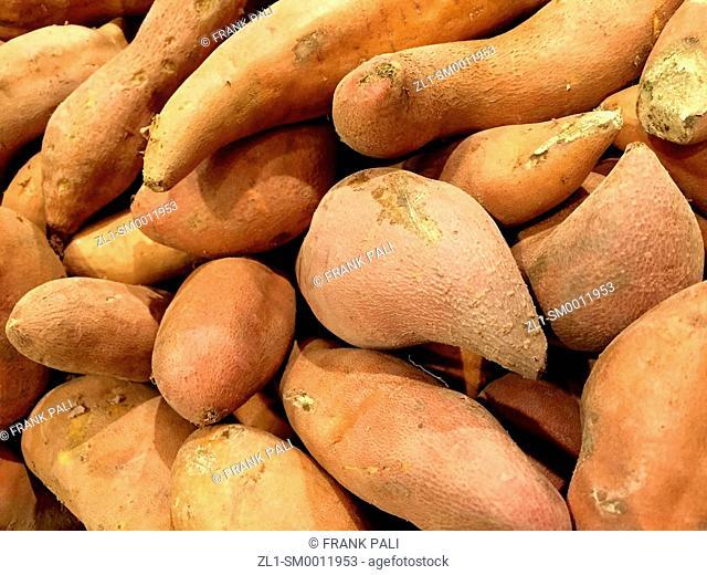 Organic yams or sweet potatoes
