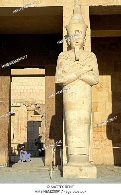 Egypt, Upper Egypt, Nile Valley, surroundings of Luxor, Thebes Necropolis listed as World Heritage by UNESCO, Western area, Deir El Bahri, Hatshepsut Temple
