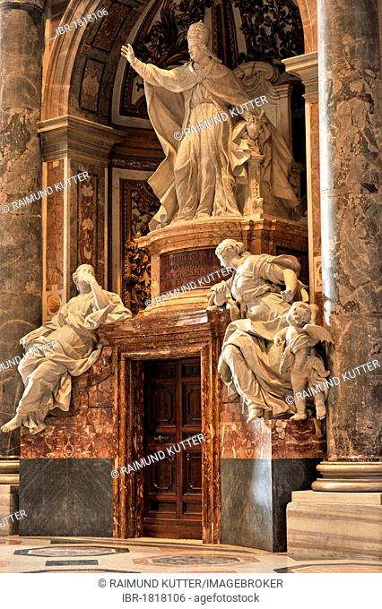 Monument to Pope Benedict XIV, St. Peter's Basilica, Vatican City, Rome, Lazio region, Italy, Europe