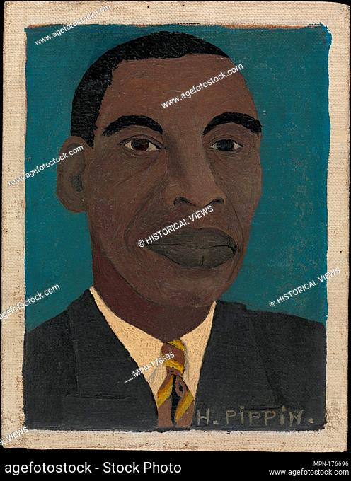 Self-Portrait II. Artist: Horace Pippin (American, West Chester, Pennsylvania 1888-1946 West Chester, Pennsylvania); Date: 1944; Medium: Oil on canvas